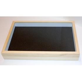 Boite entomologique 39 x 26 x 5,7cm avec fond noir
