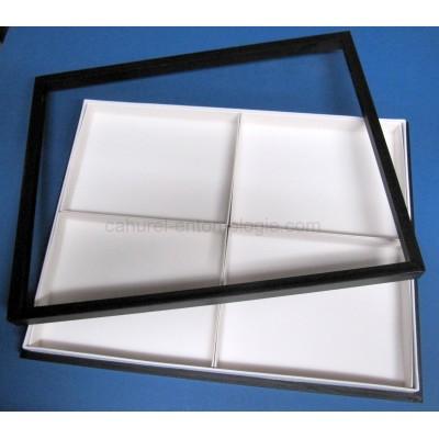 Boite vitrée 39 x 50 x 5,5 cm avec casiers