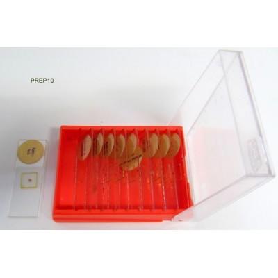 Boite de 10 préparations microscopiques