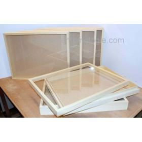 Boite sans émalène à couvercle vitré 39 x 50 x 5,7 cm
