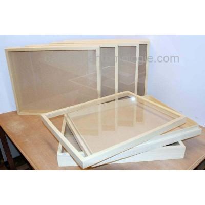 Boite à couvercle vitré 39 x 50 x 5,7 cm